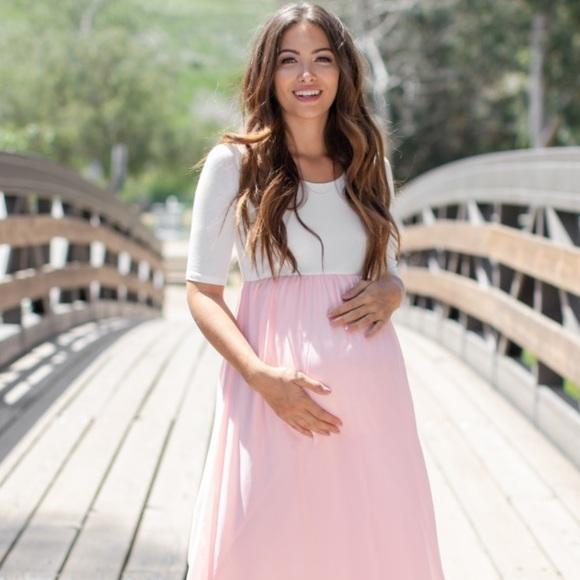 Pinkblush Dresses & Skirts - Pinkblush Lavendar Colorblock Maxi Dress - Small